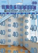 Závěsné dekorace glitz 40 modré