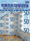 Závěsné dekorace glitz 50 modré