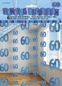Závěsné dekorace glitz 60 modré