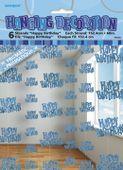 Závěsné dekorace glitz HB modré