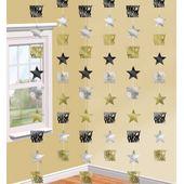 Závěsné dekorace Happy New Year Gold