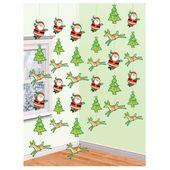 Závěsné dekorace Rudolf a Santa