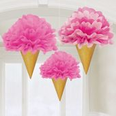 Závěsná dekorace růžová zmrzlina