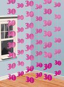 Závěsné dekorace růžové 30