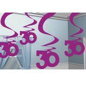 """Závěsné spirály """"30"""" pink"""