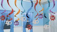 Závěsné spirály 40 multicolor