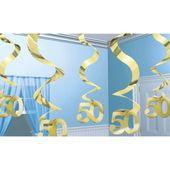 Závěsné spirály 50 gold