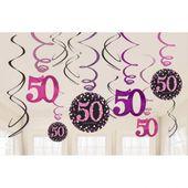 Závěsné spirály 50 Pink Diamonds