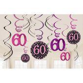 Závěsné spirály 60 Pink Diamonds