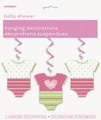 Závěsné spirály baby girl dots