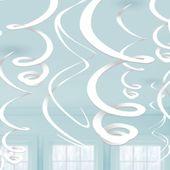 Závěsné spirály bíle