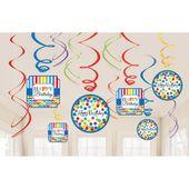 Závěsné spirály Birthday bright rainbow