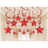 Závěsné spirály červené hvězdy