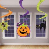 Závěsné spirály Halloween mix