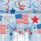 Závěsné spirály Happy 4th July