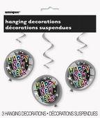 Závěsné spirály Happy New Year Ballons