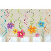 Závěsné spirály Hawaiské květy