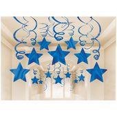 Závěsné spirály modré hvězdy