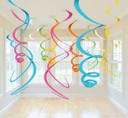 Závěsné spirály multicolor