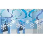 Závěsné spirály sněhové vločky