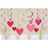 Závěsné spirály Valentine's Hearts