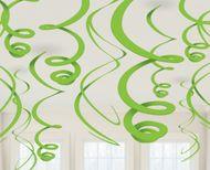 Závěsné spirály zelené