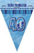Vlaječky 40.narozeniny Glitz blue