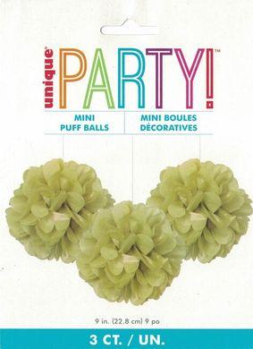 Mini pompónové koule zlaté