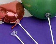 Balónková tyčka s násadkou bílá