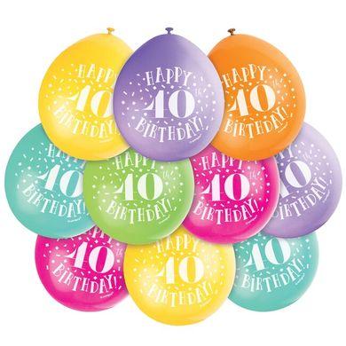 Balónky Happy 40th Birthday