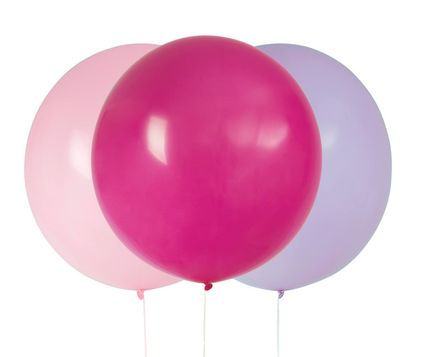 Balónky velké růžovo-fialové