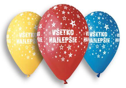 Balónky Všetko najlepšie 5 ks