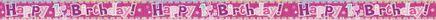 Banner 1. narozeninové HB růžová