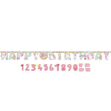 Banner s vlastním číslem Kouzelný jednorožec