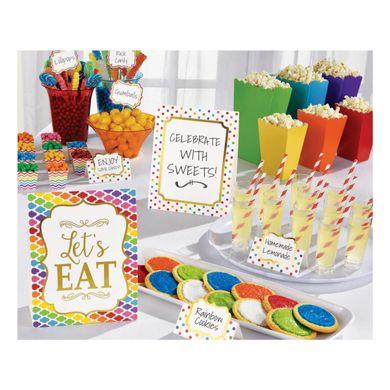 Dekorační set Candy Bar barevný