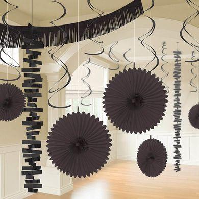 Dekorační set místnosti černý