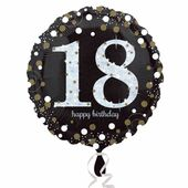 "Fóliový balónek ""18"" Gold Diamonds"