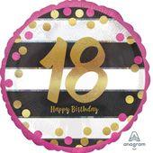 "Fóliový balónek ""18"" Pink & Gold Milestone"