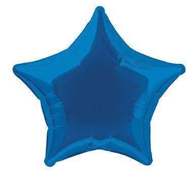 Fóliový balónek star modrý