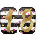 "Fóliový balónek supershape ""18"" Pink & Gold Milestone"