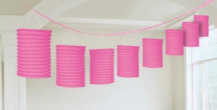 Girlanda lampiony růžová