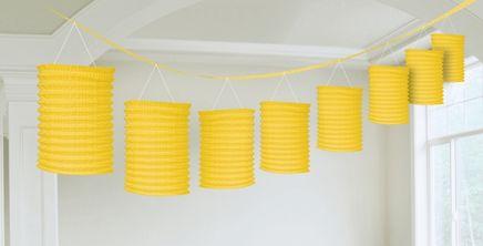 Girlanda lampiony žlutá