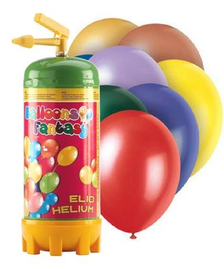 Heliová láhev 20 + balónky