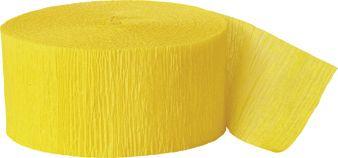 Krepový papír sytě-žlutý