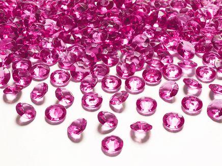 Krystalové diamanty tmavě růžové