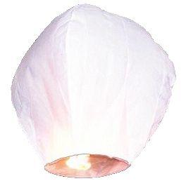 Lampion štěstí bílý 100ks