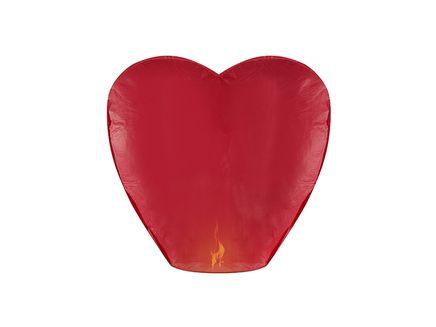 Lampion štěstí Srdce červený
