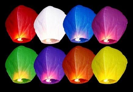Lampiony štěstí multicolor - 50ks