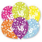 """Latexové balónky """"18"""" multi"""