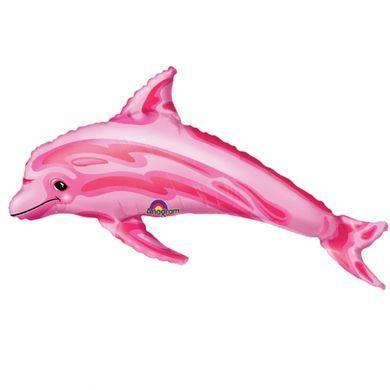 Mini fóliový balónek Růžový delfín